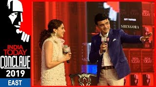 Sourav Ganguly's Batting Tips To Tapsee Pannu For The Role Of Mithali Raj | #ConclaveEast19