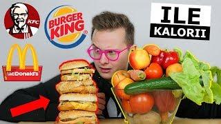 KALORIE Z MCDONALDS, KFC, BURGER vs. ZDROWE POSIŁKI - CO JEMY?!