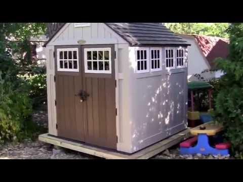 Suncast Garden Shed and Kohler Cimarron Toilet