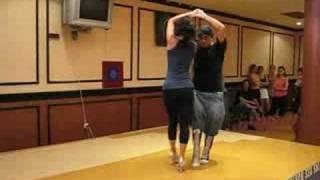 Francisco Vazquez & Charlene Rose - salsa partner work