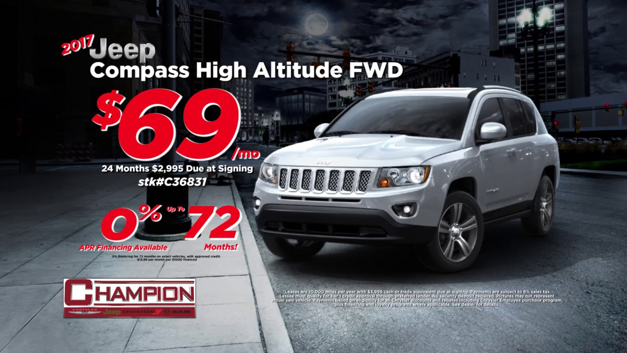 March And April Lease Specials At Champion Chrysler Jeep - Chrysler lease specials michigan