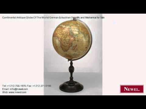 Continental Antique Globe Of The World German & Austrian