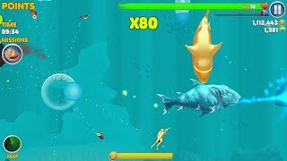 Hungry Shark Evolution Ice Shark Android Gameplay #46