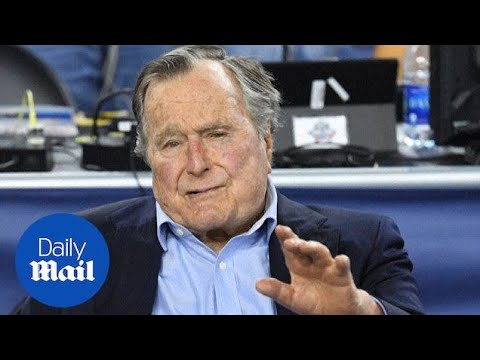 Former President George HW Bush hospitalized in Houston - Daily Mail