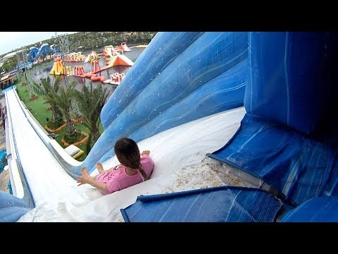 Giant Mountain Water Slide at Pantai Norasingh Water Park