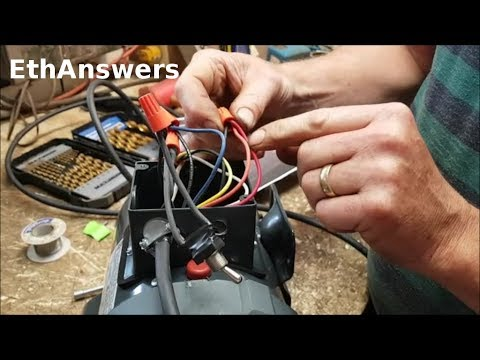 How To Wire a 3/4HP Leeson Electric Motor With a Switch! EthAnswers