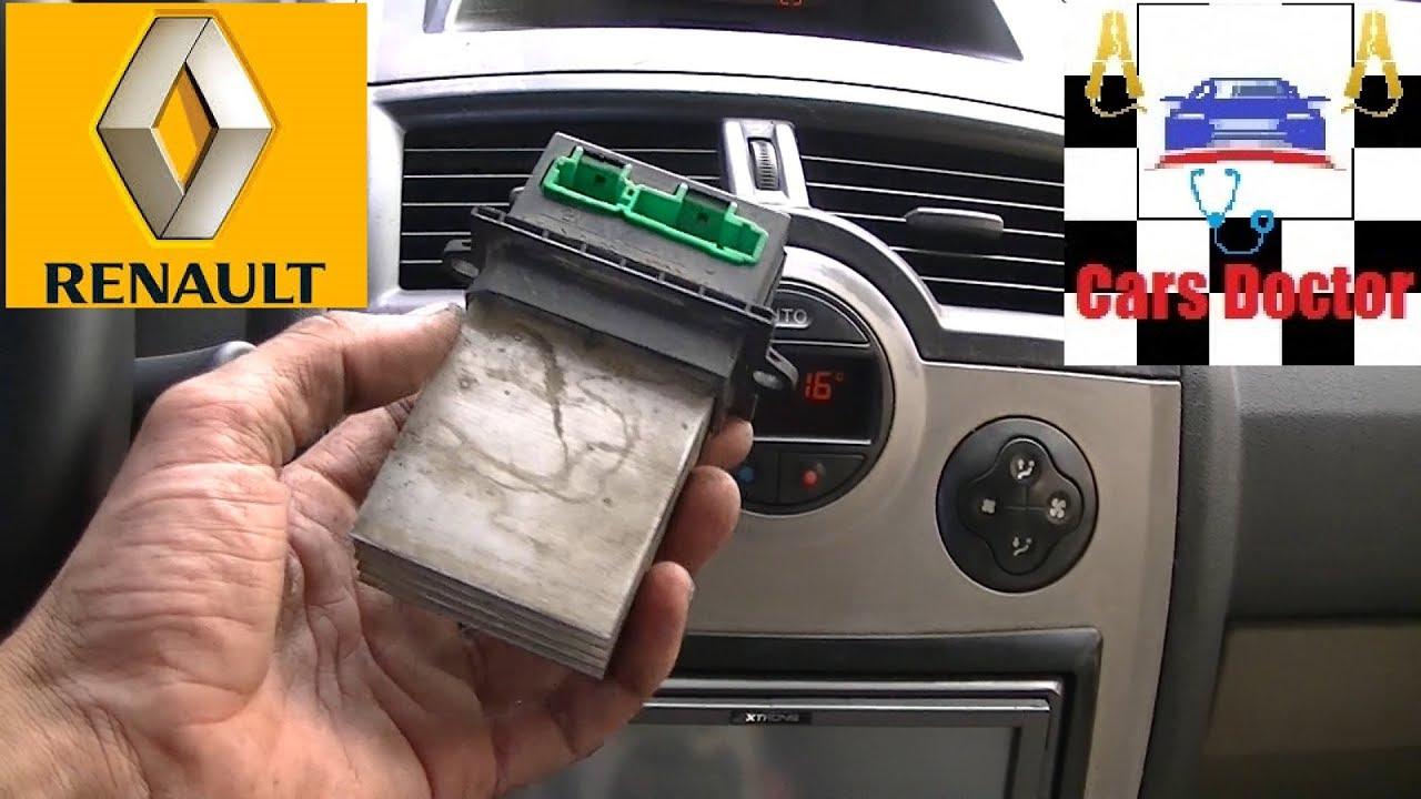 Ventilador Interior Calefaccion No Funciona Renault Megane 2 Youtube