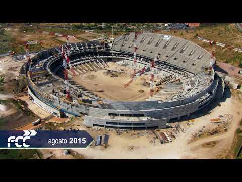 Timelapse construcción Estadio Wanda Metropolitano- At Madrid
