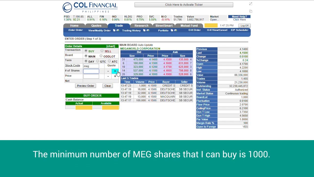 How To Buy Stocks Using Your Col Financial Account