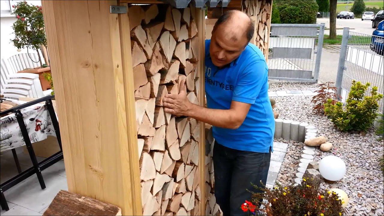 Perfekt Sichtschutz Aus Brennholz Für Eine Terrasse