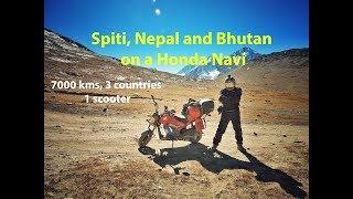 Spiti Valley, Nepal (Muktinath) and Bhutan on a gearless Honda Navi