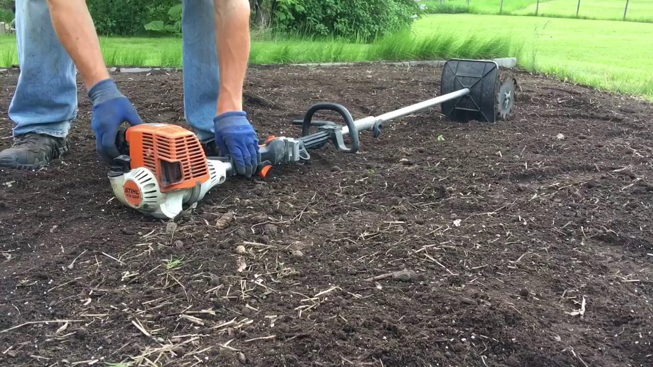 Stihl KM 130 R With Mini Cultivator Attachment