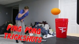 CRAZY PING PONG TRICKSHOTS!