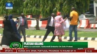 Plateau Killing: BBOG Co-Convener, Ezekwesili Embarks On Solo Protest