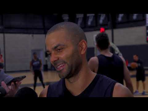 Spurs Guard Tony Parker Media Availability After Practicing With Austin Spurs