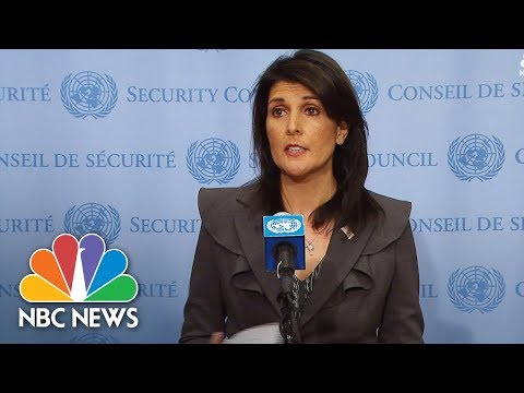 United Nations Ambassador Nikki Haley Quotes Messages From Iranian Protesters | NBC News