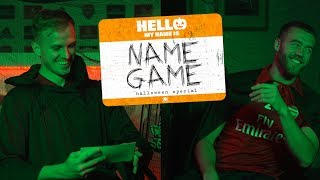 HALLOWEEN NAME GAME | Episode 4 | Calum Chambers & Rob Holding