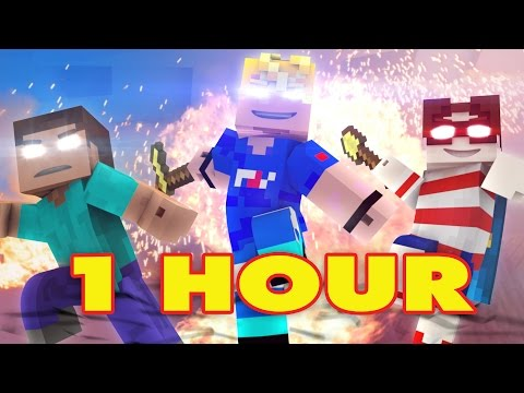 """WANTED MEN"" 1 HOUR - Minecraft Original   - FrediSaalAnimations"