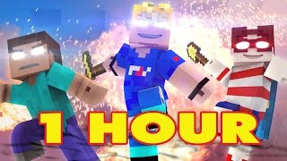 'WANTED MEN' 1 HOUR - Minecraft Original Music Video - FrediSaalAnimations