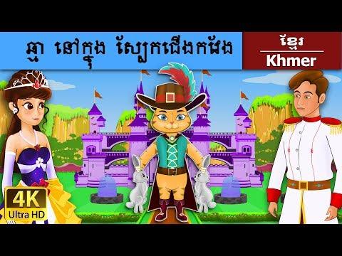 ឆ្មា នៅក្នុង ស្បែកជើងកវែង - Puss in Boots in Khmer - រឿងនិទានខ្មែរ - 4K UHD - Khmer Fairy Tales