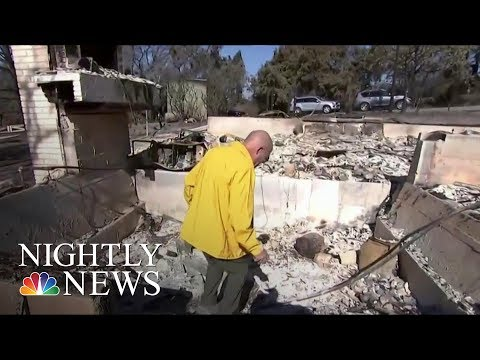 California Wildfires: Couple Awakes To Leaping Flames | NBC Nightly News