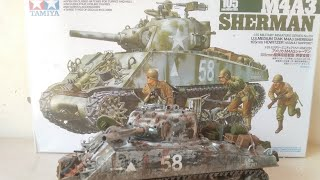 M4A3 Sherman 105mm Howitzer build 1/35 scale (tamiya 35251)