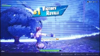 Fortnite my first solo win!!!!! [bush camping always works]