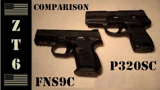 FNS-9 Compact vs SIG P320 Subcompact (FNS-9C vs P320SC 9MM)