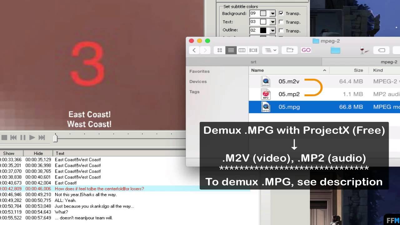 Convert SRT to DVD subtitles (.SUP) Free on Mac - YouTube