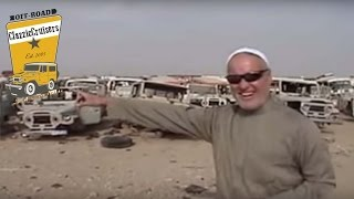 Marv Spector from SOR visiting LandCruiser FJ40 grave yards in Saudi Arabia giving a guided tour