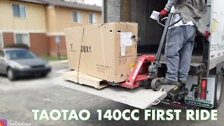 TAKING DELIVERY and UNBOXING CHINESE PIT BIKE TaoTao 140CC