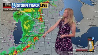 Severe thunderstorm warnings issued in West Michigan