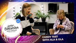 Candy Test with Ala and Ola Tracz - Part 1 - Junior Eurovision