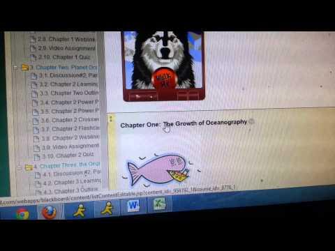 Online Blackboard Oceanography