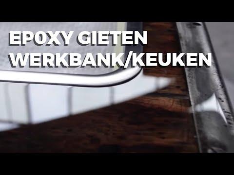 Epoxy gieten werkbank/keukenblok.       .Deel1