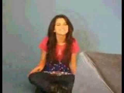 Selena Gomez singing Rock Star