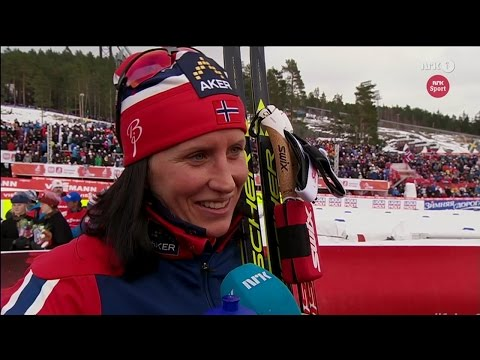 Falun 2015: Interview with Marit Bjørgen after skiathlon