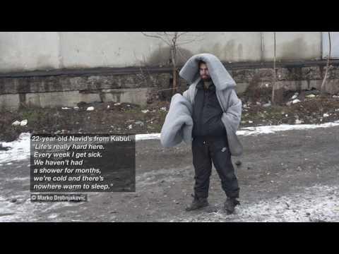 Serbia: Refugees trapped in Belgrade in 20°C below