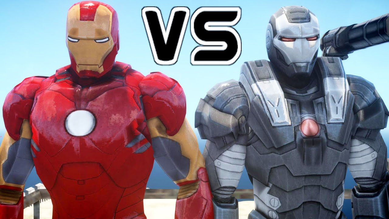 iron man vs war machine epic battle youtube