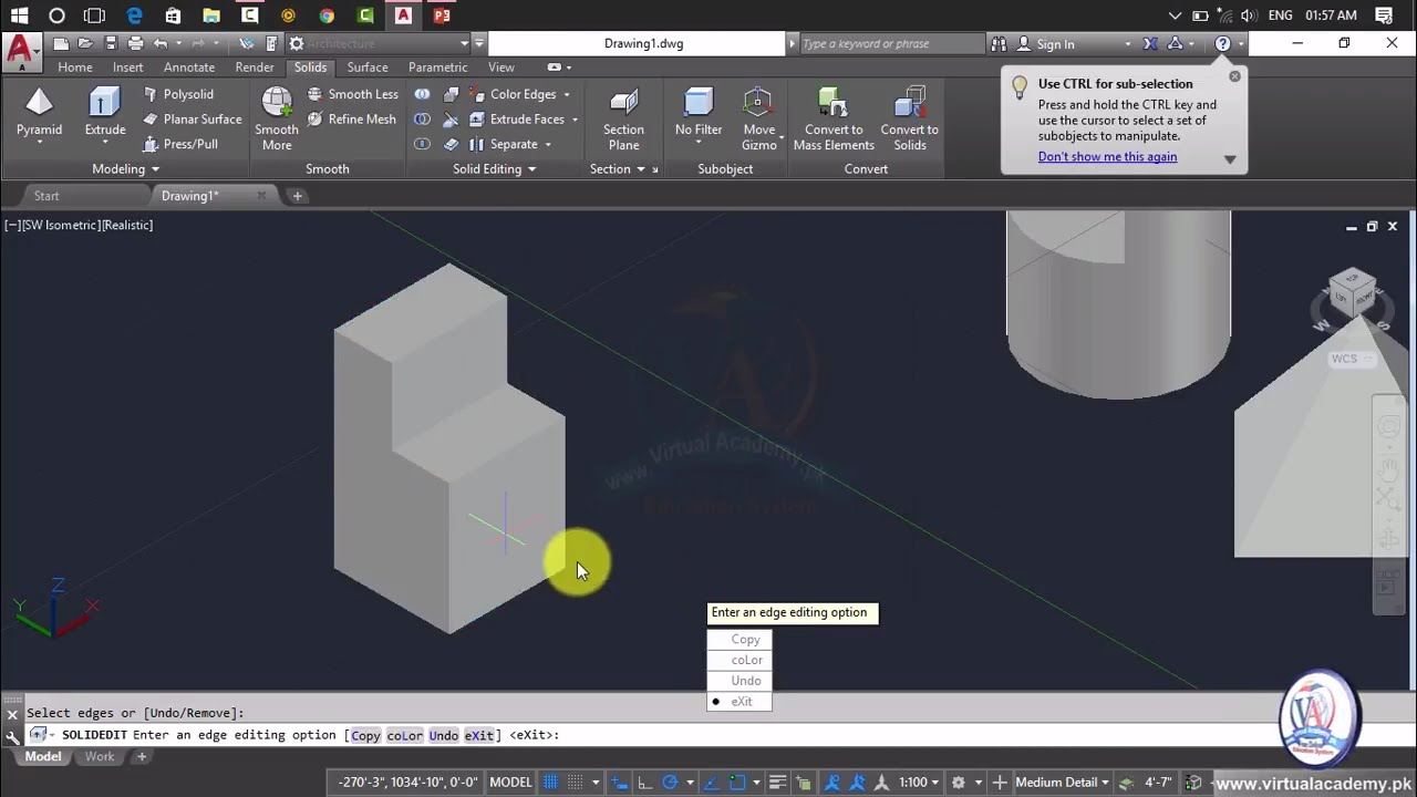 Drawing Smooth Lines In Autocad : Autocad d modeling tutorial for beginner imprint
