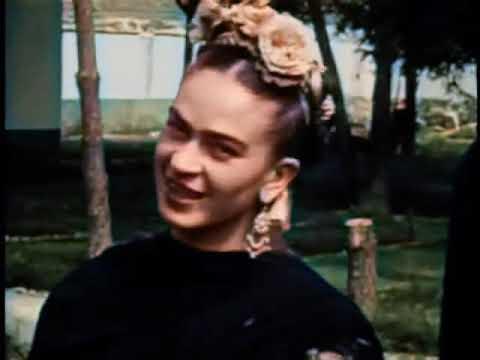AI Colorized Home Movie Clips Of Frida Kahlo