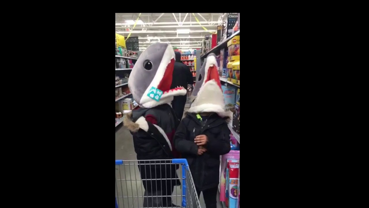 The Rod Boys at Walmart with animal heads