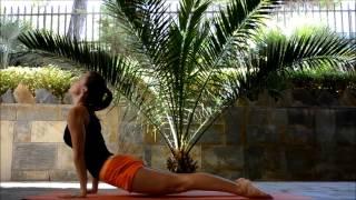 Упражнения йоги для укрепления мышц спины и пресса, а также рук и ног(Упражнения йоги, которые показаны в данном видео позволяют укрепить, а также сделать эластичными мышцы..., 2015-06-23T18:54:41.000Z)
