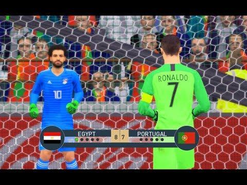 محمد صلا ضد كريستيانو رونالدو فى حراسة المرمى  | مصر ضد البرتغال | Egypt against Portugal