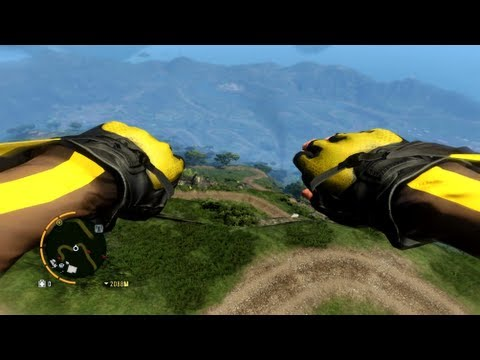 Far Cry 3 PC - Longest and Highest Wingsuit Flight Possible