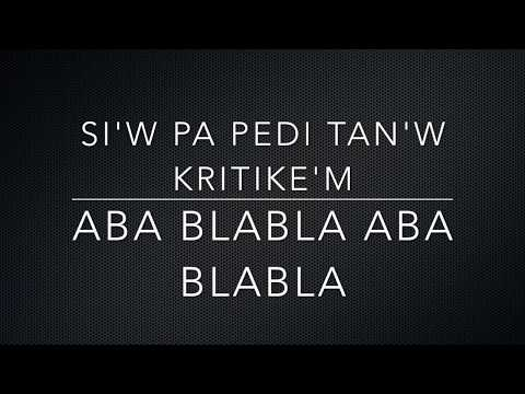 J Perry - Aba blabla Lyrics (pawol)