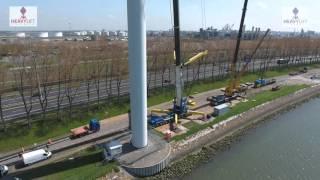 Liebherr LTM-11200 used in Wind Turbine Dismantling