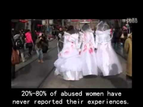 Bloody Bride - V-Day performance art @ Beijing