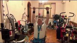 11 Блочный тренажер сидя  ЛФК для инвалидов - реабилитация(Универсальная система реабилитации всех видов паралича (вследствие нейротравм: ЧМТ, травм позвоночника..., 2013-05-22T03:15:09.000Z)