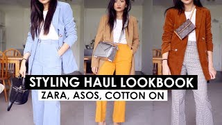 COLLECTIVE FASHION HAUL + STYLING LOOKBOOK